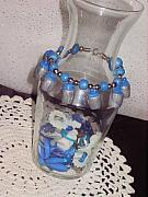 Food And Beverage Jewelry Originals - Blueberry Cupcake Bracelet by Jamie Pool