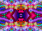 Trippy Digital Art - Blueberry Ice by Robert Orinski