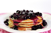 Betty Larue Posters - Blueberry Pancakes Poster by Betty LaRue