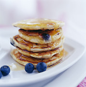 Pancake Prints - Blueberry Pancakes Print by David Munns