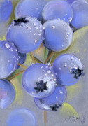 Dew Pastels Prints - Blueberry Season Print by Johanna Bohoy