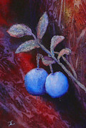Blueberry Paintings - Blueberry Surprise by Dee Carpenter