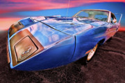 Super Bee Prints - Bluebird - 1970 Plymouth Road Runner Superbird Print by Gordon Dean II