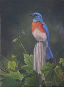 Bluebird Print by Kathleen  Hill