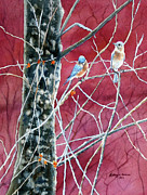 Bluebirds Prints - Bluebirds In Early Spring Print by Kathryn Duncan