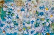 Chromatic Mixed Media Prints - Bluebonnet Print by Don  Wright