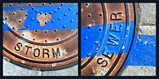 Casa Grande Photos - Bluer Sewer Diptych by Marlene Burns