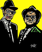Diffrent Framed Prints - Blues Brothers Framed Print by Kamoni Khem