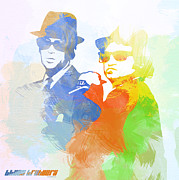 Jazz Digital Art Posters - Blues Brothers Poster by Irina  March