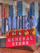 Memphis Tennessee Prints - Blues City Print by David Bearden
