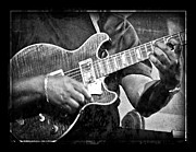 Music Prints - Blues Guitarist Print by Jeanne  Woods