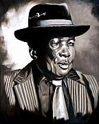 Boom Paintings - Blues Legend John Lee Hooker  by Donna Proctor