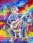 Blues Man Print by M C Sturman