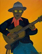 Blues Painting Originals - Blues Man by Salvadore Delvisco