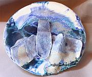 Music Ceramics Originals - Blues Platter by Abbe Gore