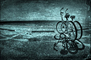Vintage Bicycle Art - Bluescape by Evelina Kremsdorf