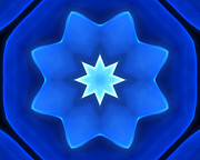 Ornamental Digital Art - Bluestar by Ann Croon