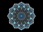 Mandala Prints - Bluetitude 01 - Quietude Print by Aimelle