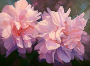 Oversized Painting Originals - Blush Boursalt Rose by Susan Hope Fogel