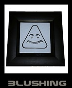 Emoticon Framed Prints - Blushing Framed Print by Sirajudeen Kamal Batcha