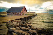Door County Prints - Blustery Day At Anderson Barn Print by Shutter Happens Photography