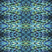 Repeat Patterns Digital Art Posters - Bluzure  Poster by Sue Duda