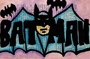 Bat Drawings - Bman Head Logo by Jera Sky