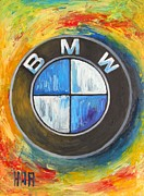 Motor Oil Framed Prints - BMW - The Ultimate Driving Machine Framed Print by Dan Haraga