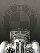 Indy Car Framed Prints - Bmw 328 1938 Framed Print by Curt Johnson