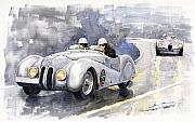 Bmw Prints - BMW 328 Roadster Print by Yuriy  Shevchuk