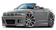 Bmw M1 Posters - BMW e46 M3 Grey Convertible Poster by Andy Hengelhaupt
