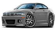 Bmw M1 Posters - BMW e46 M3 Grey ZCP Poster by Maddmax