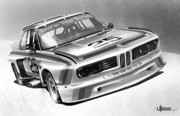 Transportation Digital Art - BMW M Series 3.5 CSL by Uli Gonzalez