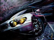 Fast Paintings - Bmw by Nadia Gallagher
