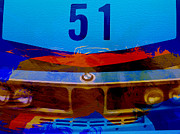 Vintage Cars Digital Art - BMW Racing colors by Irina  March