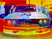 Racetrack Digital Art Prints - BMW Racing Print by Irina  March