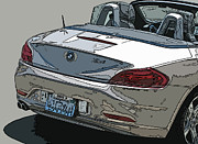 Sam Sheats Photo Prints - BMW Z4 Rear Study Print by Samuel Sheats