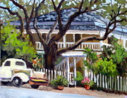 Antiques Paintings - BnB with Truck by Char Wood