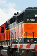 Train Crossing Prints - Bnsf 2733 Print by Noel Zia Lee