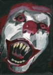 Scary Clown Prints - Bo-Bo the Clown Print by Mikey Milliken