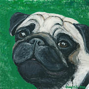 Fawn Pug Paintings - Bo The Pug by Ania M Milo