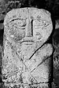 Boa Posters - Boa Island Bilateral Carved Stone Figure Often Called The Janus Stone Fermanagh Ireland Poster by Joe Fox