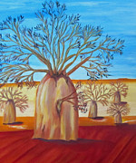 Boab Prints - Boab Tree Print by Merlene Pozzi