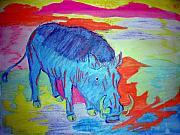 Vibrant Pastels Originals - Boar Radiation by Leigh Odom