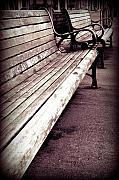 Benches Photo Originals - Boardwalk Benches by Marius Sipa