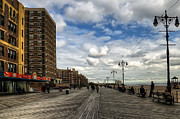 York Beach Framed Prints - Boardwalk Brooklyn04 Framed Print by Svetlana Sewell