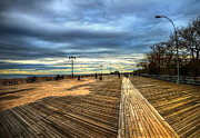 York Beach Framed Prints - Boardwalk Brooklyn05 Framed Print by Svetlana Sewell
