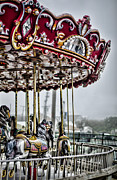 Carnivals Photos - Boardwalk Carousel by Heather Applegate