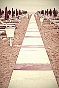 Beach Chairs Posters - Boardwalk Poster by Joana Kruse