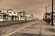 Ocean City Framed Prints - Boardwalk Framed Print by John Loreaux